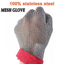 Load image into Gallery viewer, NMSafety High Quality 100% Stainless Steel Ring 304 Cut Resistant Butcher Protect Meat Gloves