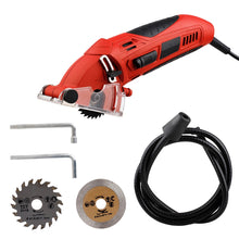 Load image into Gallery viewer, Portable Multi Functional Mini Electric Saw Set Circular Wood Saw Metal with 3pcs Blades Outdoor Camping Activity Power Tools