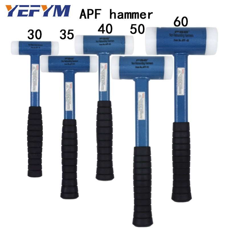 30mm-60mm Double Face Tap Nylon Hammer For Multifunctional hand tool hard plastic and Non Slip Plastic handle diameter tools