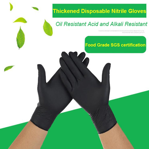 FSUP 100pcs disposable nitrile Gloves work glove Food Cooking Gloves Kitchen Cleaning Universal Household Garden tattoo beauty