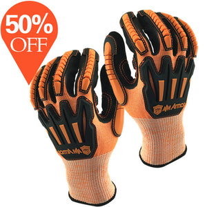 Anti Vibration Safety Work Glove and Shock Resistant Glove with Anti Impact Mechanics Working Gloves