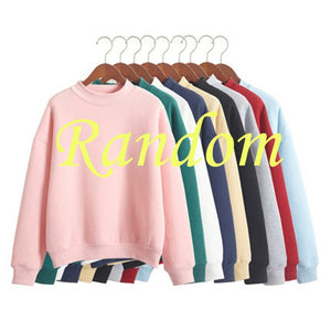 Women Turtleneck Hoodies 2018 Autumn Winter Coat Sweatshirts Long Sleeve Shirts Moletom Feminino Harajuku Pullover Tops Clothes