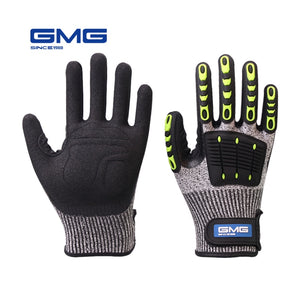 Cut Resistant Gloves Anti Impact Vibration Oil GMG TPR Safety Work Gloves Anti Cut Proof Shock Mechanics Impact Resistant