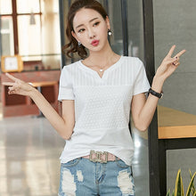 Load image into Gallery viewer, plus size women blouses cotton summer tops blusas mujer white embroidery blouse femme ete 2019 camisa feminina womens clothing