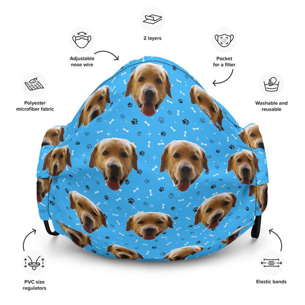 Mixbu Blue MixbuDog Face mask