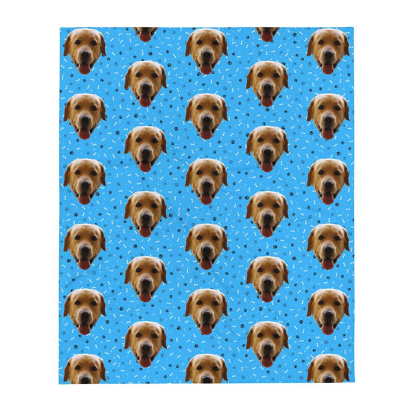 Mixbu Blue MixbuDog Throw Blanket