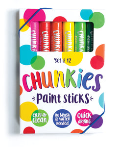 OOLY Chunkies Paint Sticks- Original Pack (Set of 12)