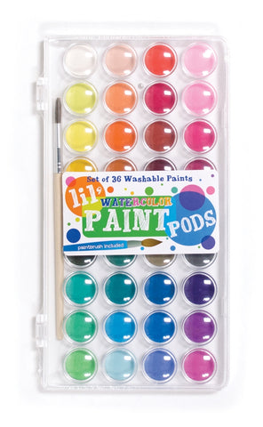 OOLY Lil' Pods Watercolor Paint- 37 piece set