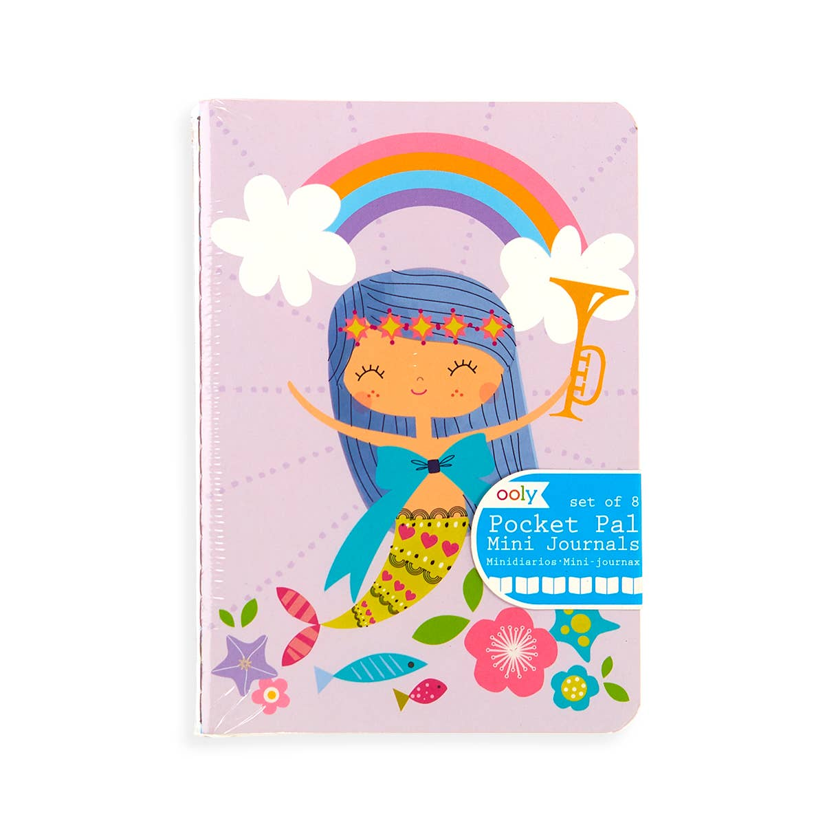 "Mini Pocket Pal Journals: Mermaid Magic - Set of 8 (3.5"" x 5"")"