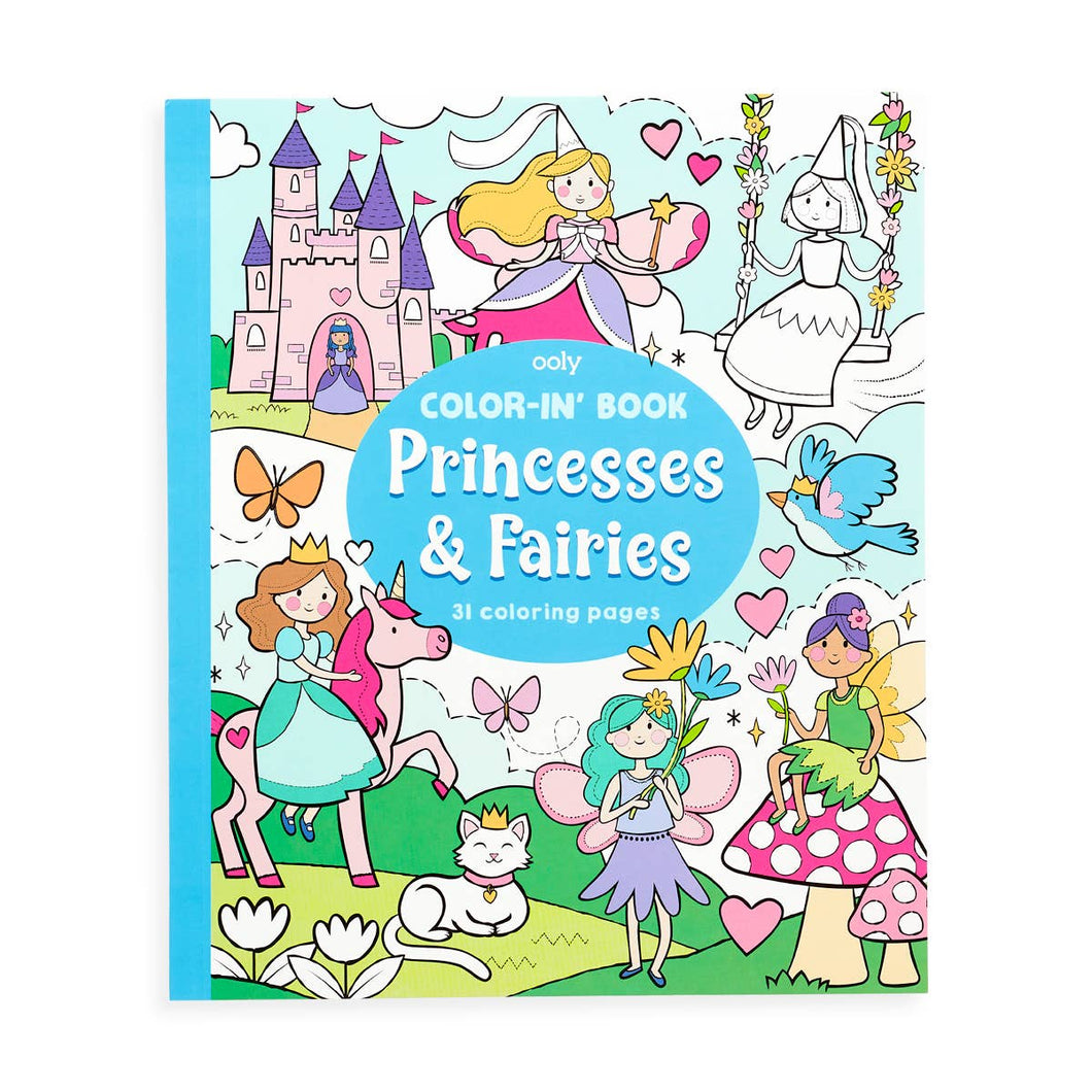 Color-in' Book - Princesses & Fairies (8