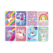 "Load image into Gallery viewer, Mini Pocket Pal Journals: Unique Unicorns - Set of 8 (3.5"" x 5"")"
