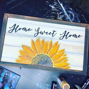 Wooden Sunflower Sign Kit