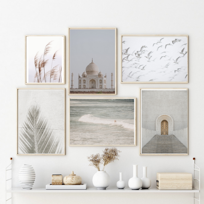 Grey Dreams Wall Art Set of 6 Posters