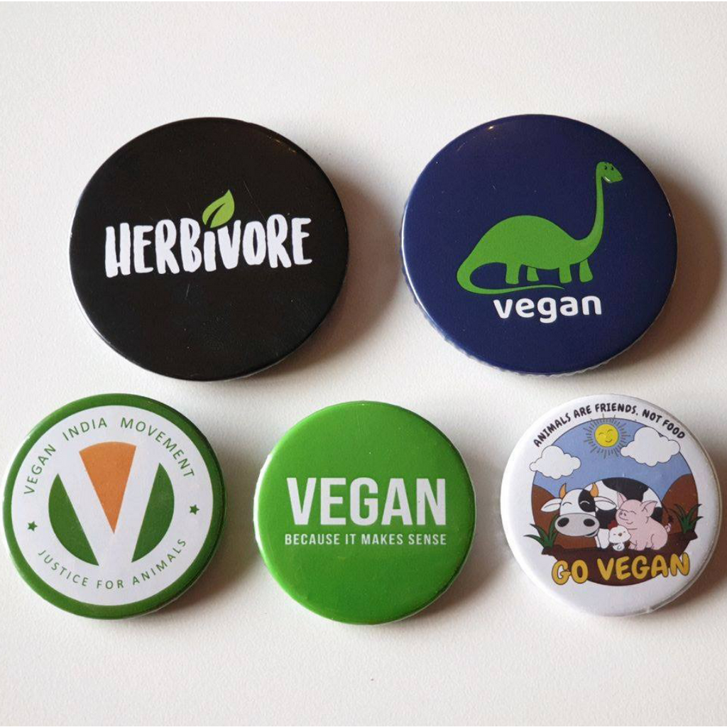 Vegan Button Badge Set - Pack of 5