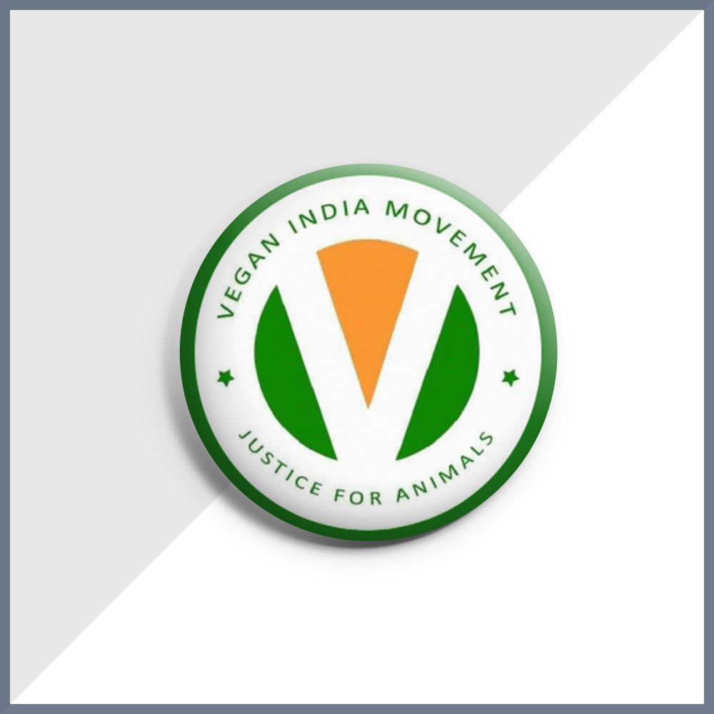Official Vegan India Movement Badge
