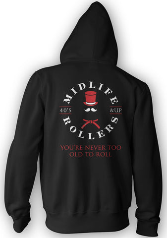 Midlife Rollers Black Belt Heavy-Blend Hoody