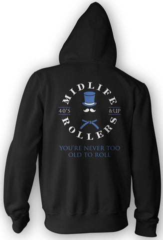Midlife Rollers Blue Belt Heavy-Blend Hoody