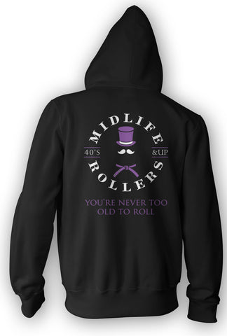 Midlife Rollers Purple Belt Heavy-Blend Hoody