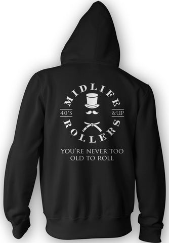 Midlife Rollers White Belt Heavy-Blend Hoody