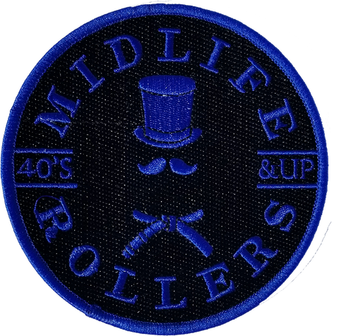 Midlife Rollers Solid Blue Belt Patch