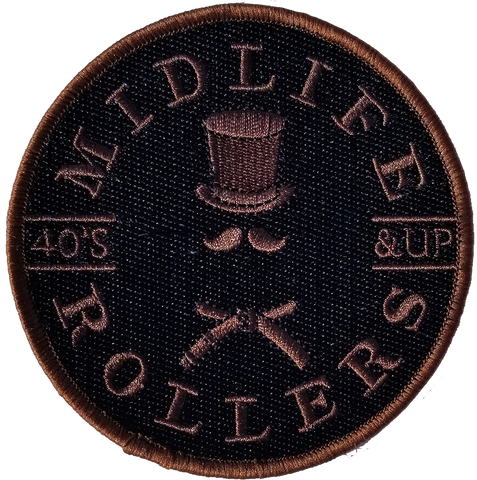 Midlife Rollers Solid Brown Belt Patch