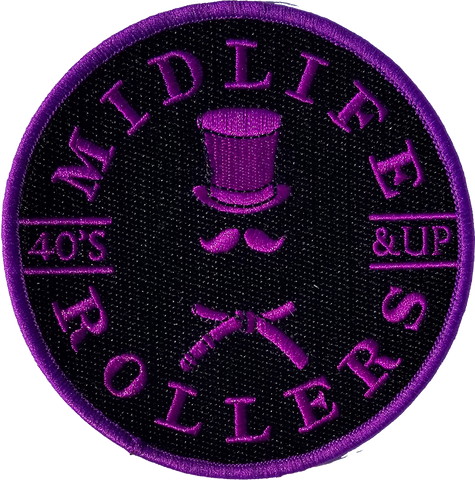 Midlife Rollers Solid Purple Belt Patch