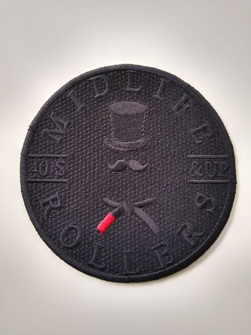Midlife Rollers Black Belt Patch