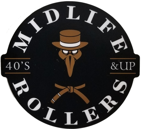 Midlife Rollers Plague Sticker 3""