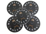"Midlife Rollers Ladies Official Logo Stickers 3"" Pack of 5"