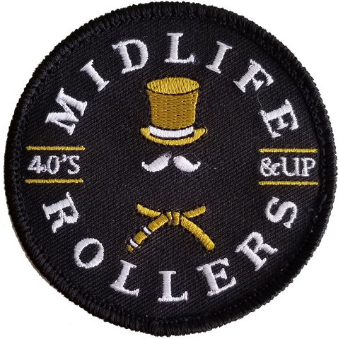 "Midlife Rollers Official Logo 3"" Hook and Loop (Velcro) Patch x 2"