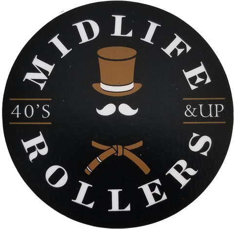 Midlife Rollers Official Logo Sticker 3""