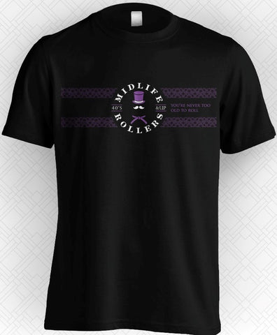 Midlife Rollers Official Logo Purple Belt T-Shirt