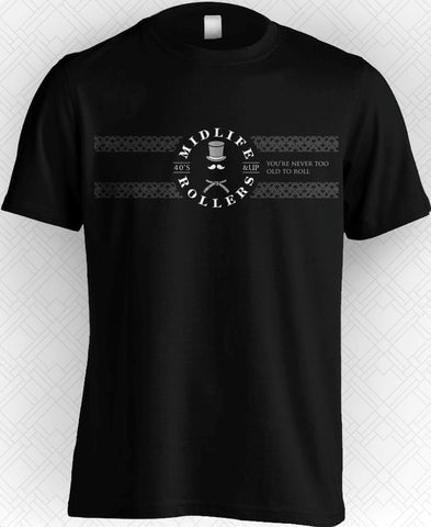 Midlife Rollers Official Logo White Belt T-Shirt