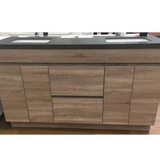 Ashley vanity with stone top- 750-1500mm