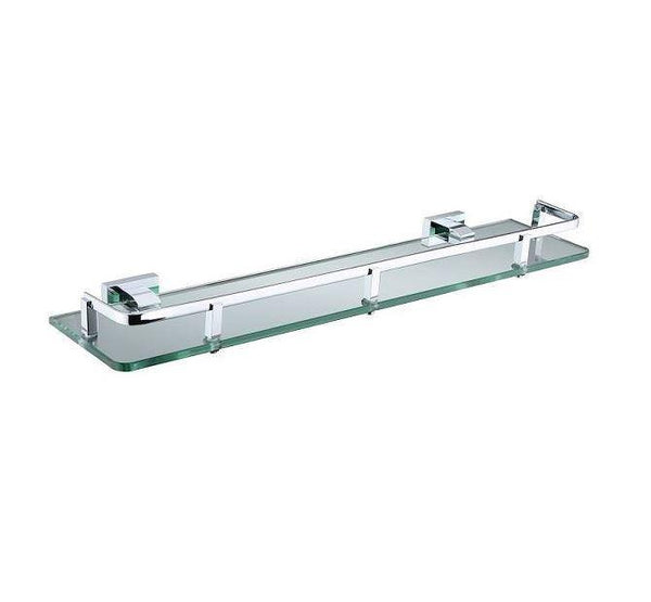 Linear Glass Shelf with Bar