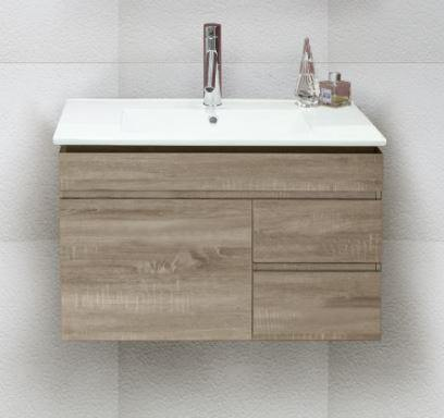 Ashley 750 Wall Hung Vanity With Ceramic Top