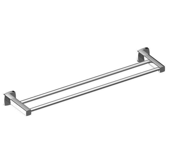 Legra Chrome Double Towel Rail - 800mm - Bayside Bathroom