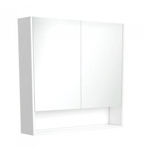 White Undershelf Mirror Cabinet 750mm-120mm