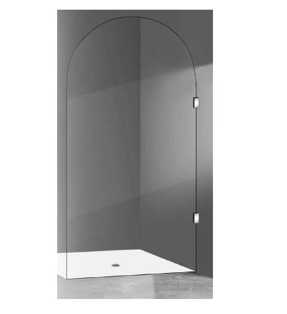 Milano Arched Frameless Shower Panel