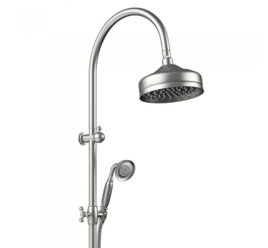 Lillian Twin Rail Shower - Brushed Nickel