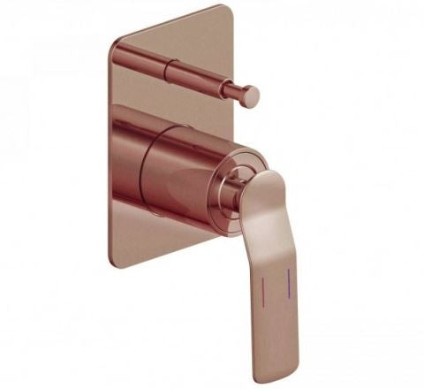 Synergii Shower or Bath Mixer with Diverter Button - Brushed Brass