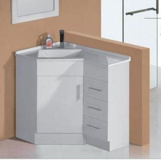 Bella 600 x 900mm Corner Vanity