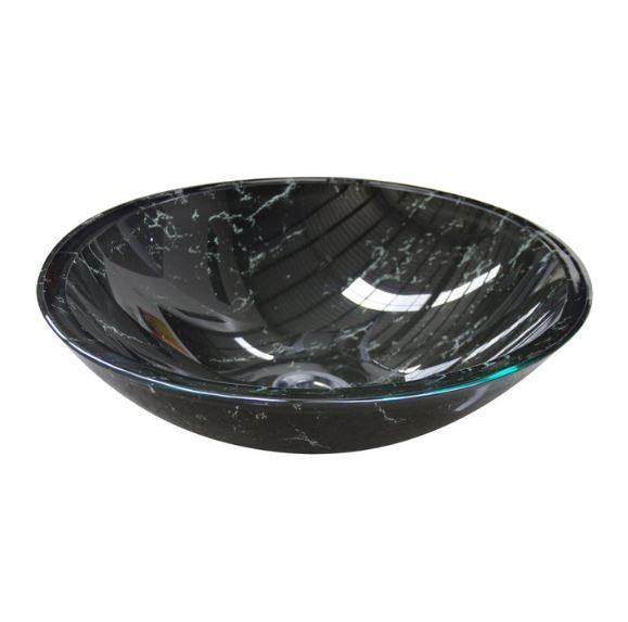 Black Marble Glass Basin