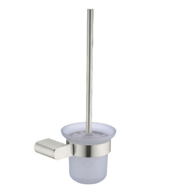 Ecco Toilet Brush Holder - Brushed Brass