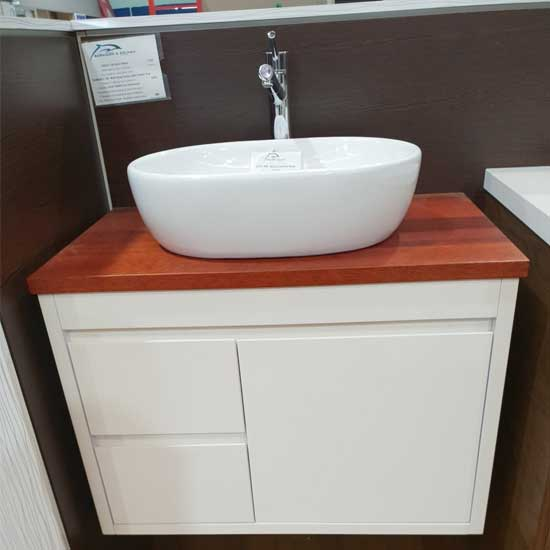 Florence 750mm Vanity With Timber Top ( Floorstock)