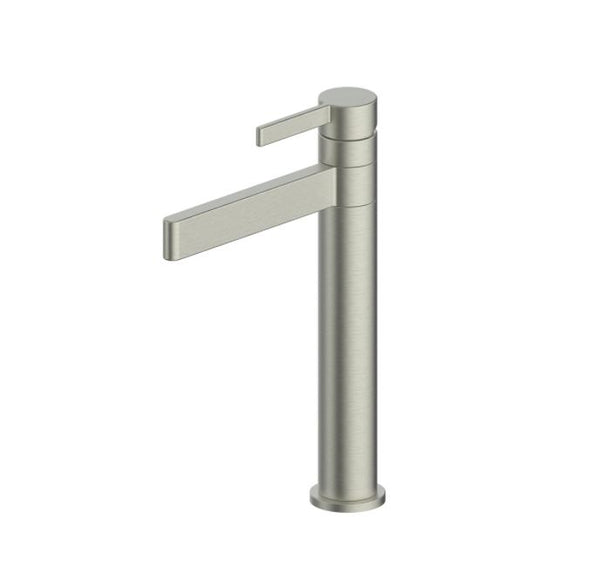 Glint Tall Swivel basin mixer - Brushed Nickel