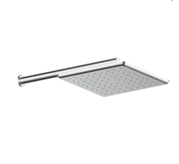 Swept Overhead Wall Shower - Chrome
