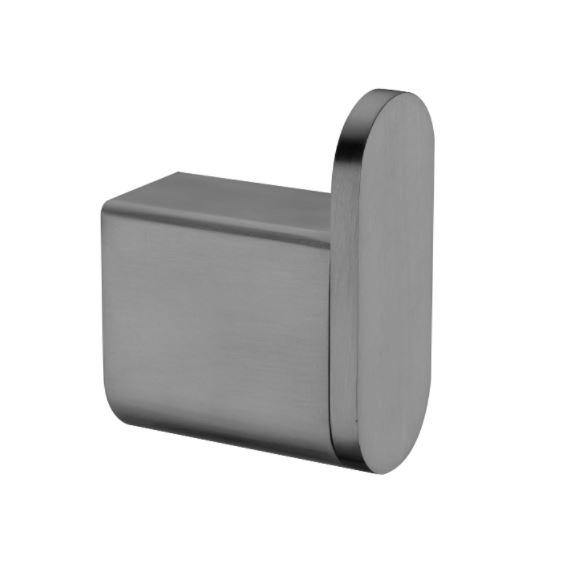 Ecco Robe Hook - Brushed Brass - Bayside Bathroom