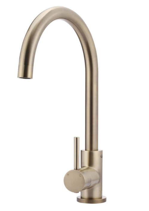 Meir Tiger Bronze Round Kitchen Mixer