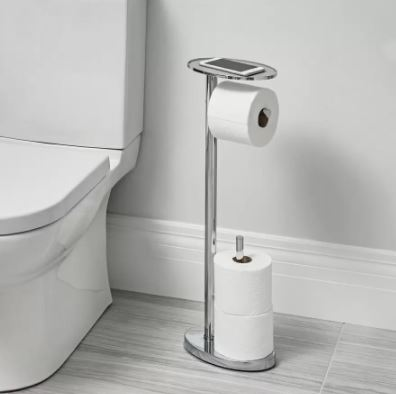 Ovo Freestanding toilet roll Caddy